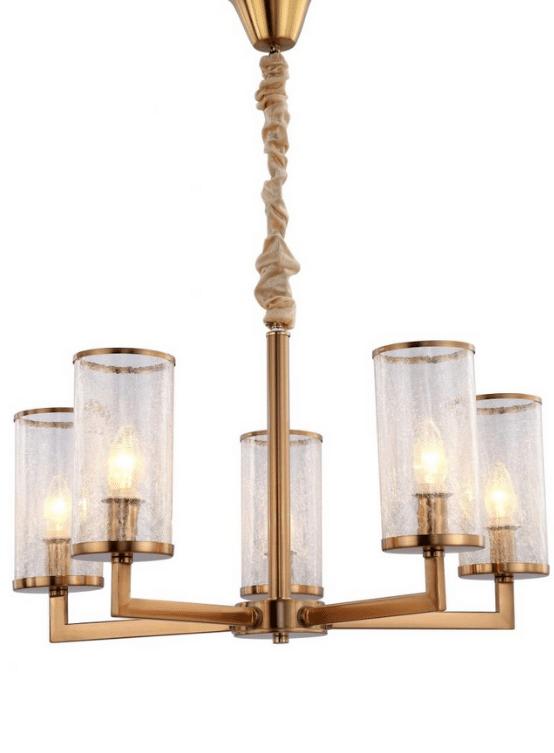 lampadario classico moderno ottone 5 luci