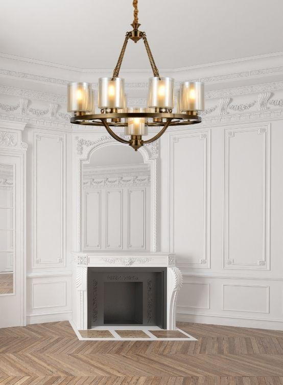 lampadario classico moderno ottone