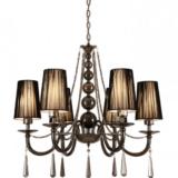 lampadario a sospensione nero stile classico molto elegante