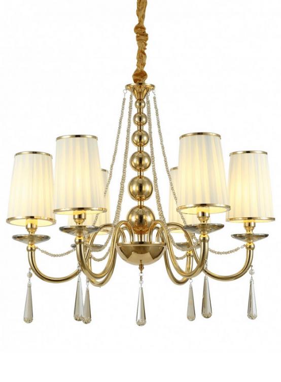 lampadario classico oro con cristalli per la camera da letto o il soggiorno