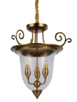 lampadario classico ottone