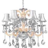 lampadari cristalli bianco crema stile classico