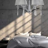 lampadario con cristalli per la camera da letto a 6 luci