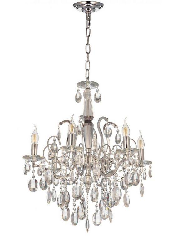 lampadario cristalli classico senza paralunme
