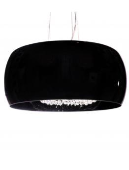lampadario cristalli moderno paralume nero