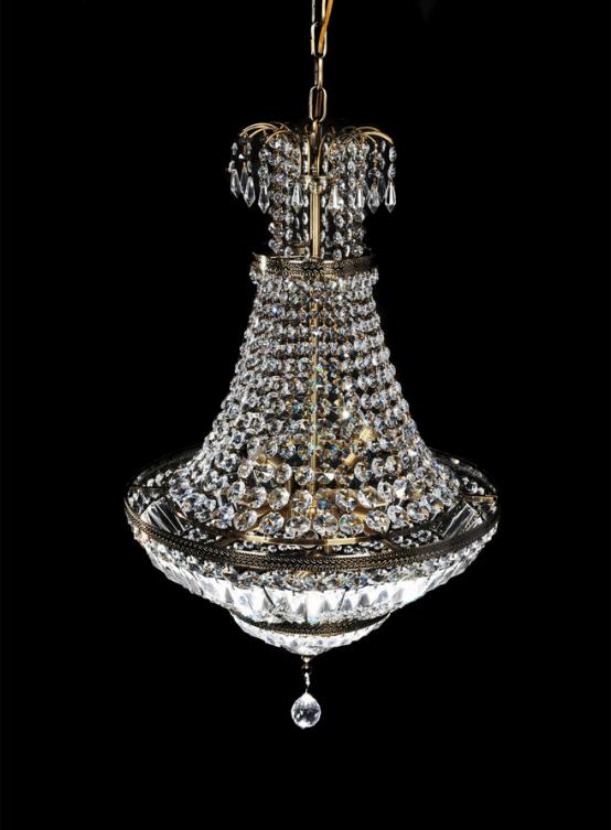 lampadario cristalli mongolfiera