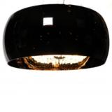 lampadario cristalli nero paralume 50 cm