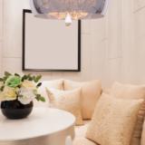 lampadario con cristalli da salotto