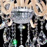lampadario cristallo color crema