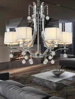 lampadario cristallo da salotto stile classico moderno