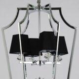 lampadario cromato elegante a sospensione