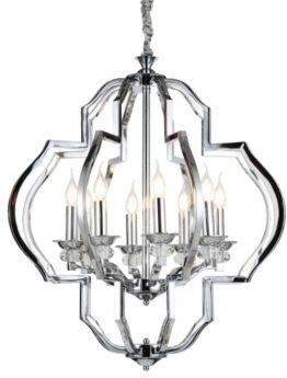 lampadari moderni cromati