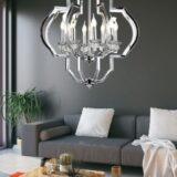lampadario cromato da salotto