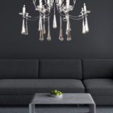 lampadario cromato salotto