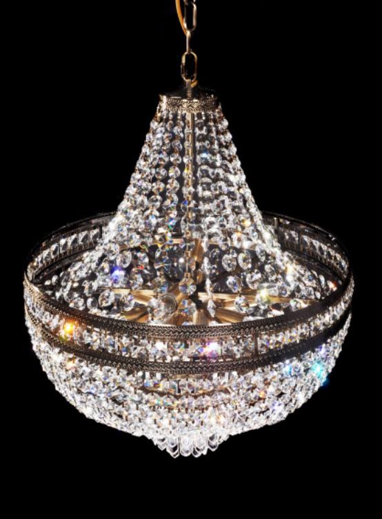 lampadario dorato stile impero classico oro antico