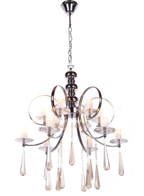 lampadario elegante con cristalli a sospensione