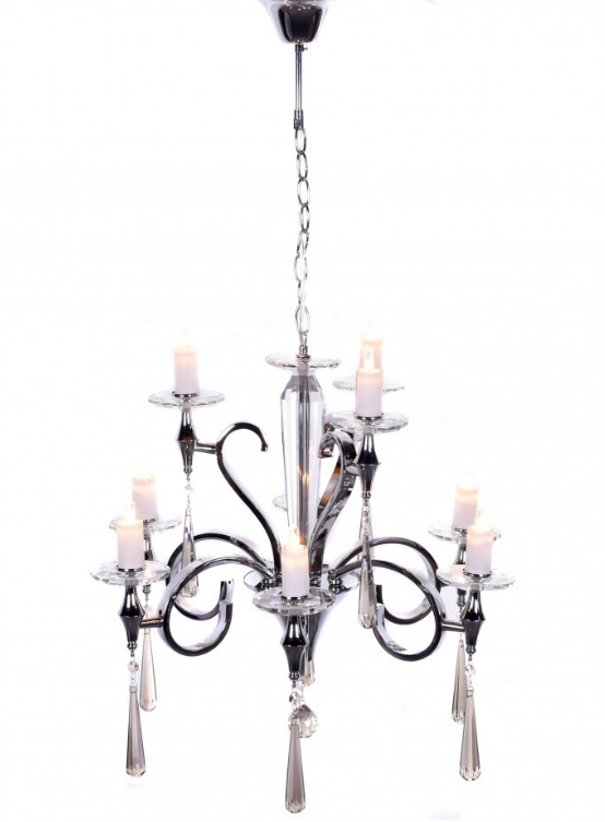 lampadario elegante moderno con cristalli