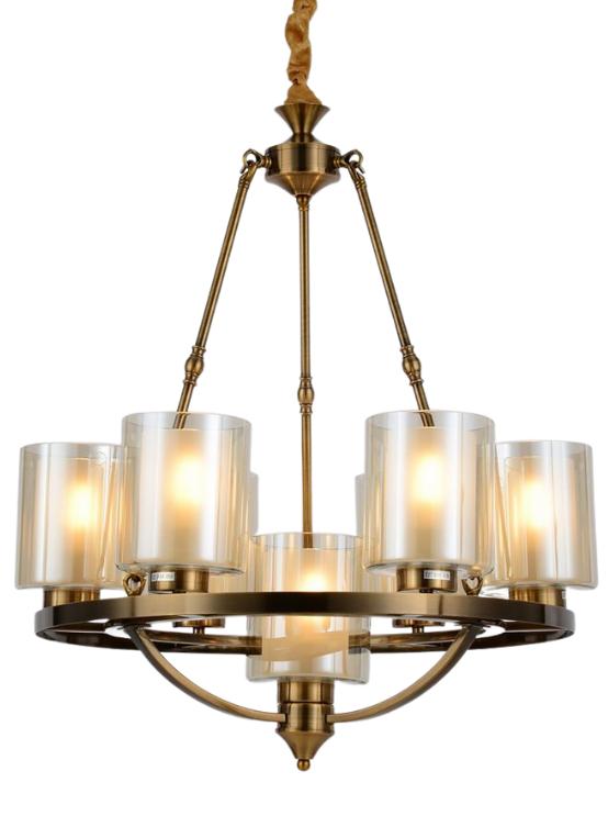 lampadario ottone elegante