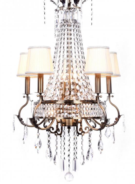 lampadario imperiale dorato cristalli