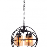 lampadario industriale stile moderno nero
