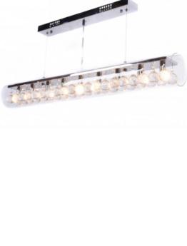 lampadario a led in vetro e cristalli