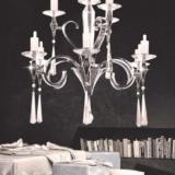 lampadario lusso moderno con cristalli