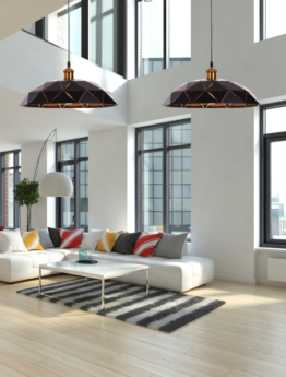 lampadari metallo nero design