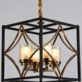 lampadario metallo nero ottone a sospensione