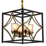 lampadari neri metallo moderni