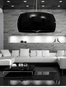 lampadario minimal colore nero