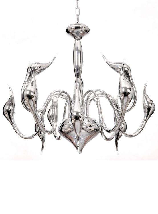 lampadario moderno argento
