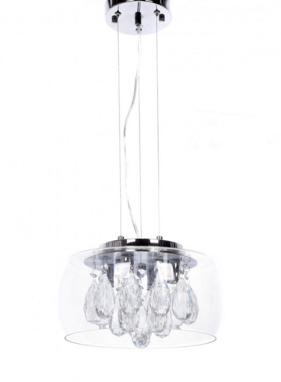 lampadario a sospensione con cristalli