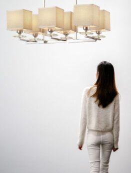 lampadario da soffitto cromato moderno per casa