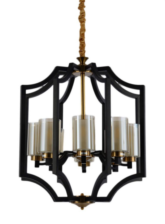 lampadari moderni nero ottone