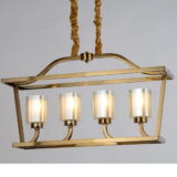lampadari ottone moderni