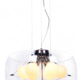 lampadario moderno paralume vetro 6 luci