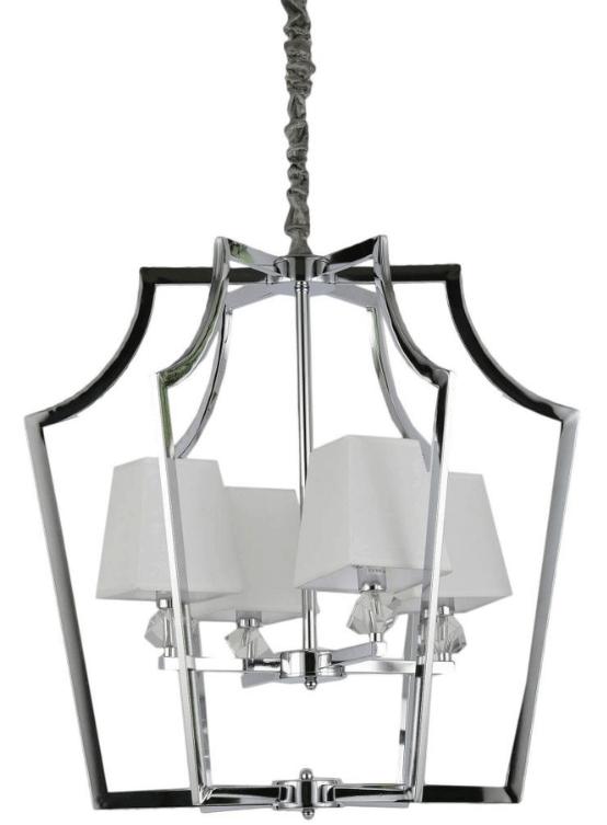 lampadario moderno paralume tessuto