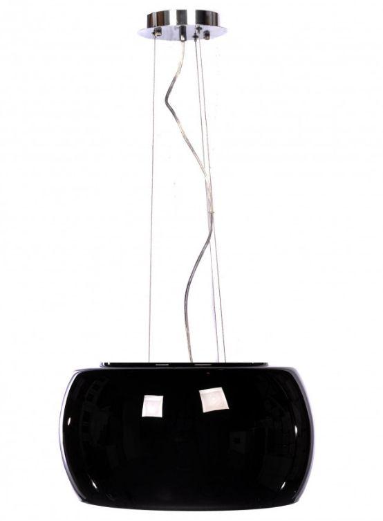lampadario moderno vetro nero