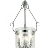 lampadario moderno vetro trasparente