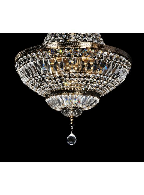 lampadario mongolfiera cristalli vetro