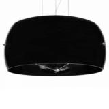 lampadario vetro nero moderno