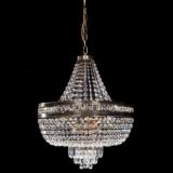 lampadario oro stile classico con cristalli stile impero