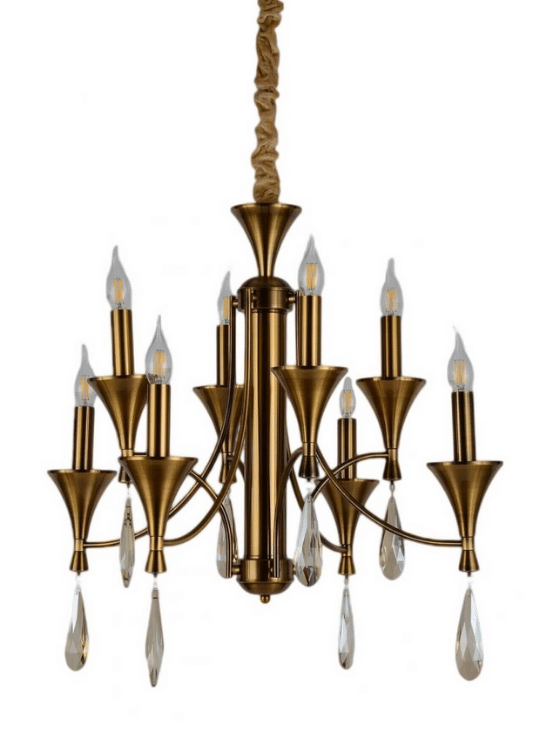 lampadario ottone classico senza paralume