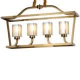 lampadario a sospensione ottone moderno