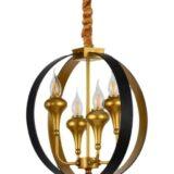 lampadario oro nero 4 luci classico moderno