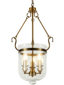 lampadario ottone e vetro a sospensione