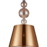 lampadario con paralume oro a soffitto