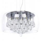 lampadari paralume vetro con cristalli