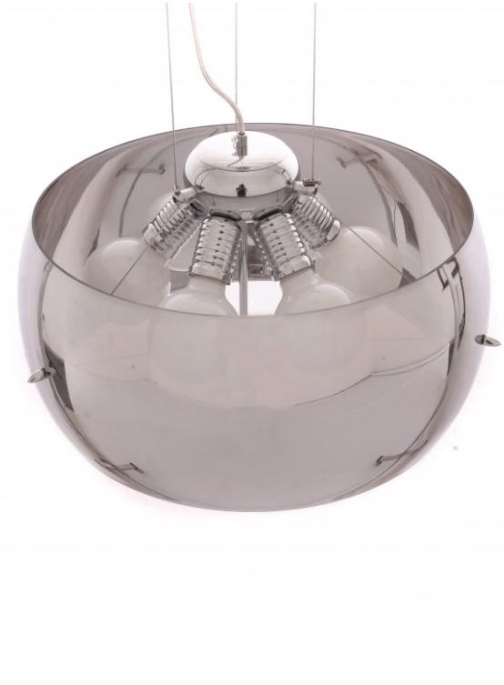 lampadario paralume vetro cromato