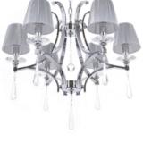lampadario paralumi classico cristalli pendenti a goccia